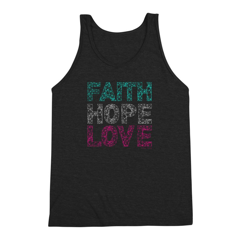 Faith Hope Love Men's Triblend Tank by Stand Forgiven ✝ Bible-inspired designer brand