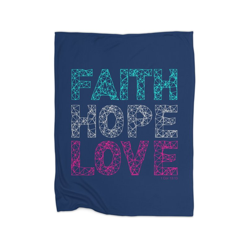 Faith Hope Love Home Blanket by Stand Forgiven ✝ Bible-inspired designer brand