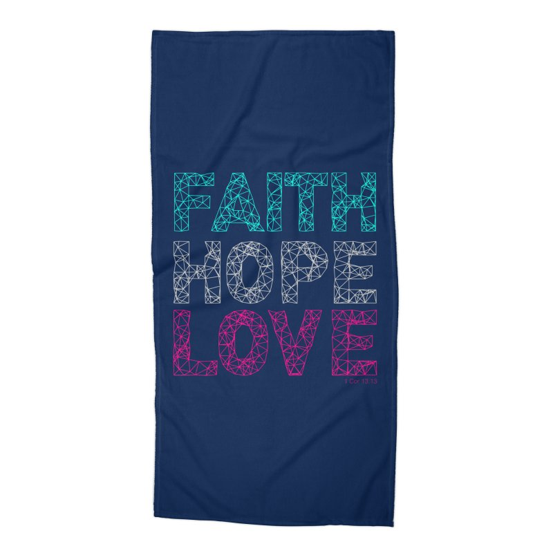 Faith Hope Love Accessories Beach Towel by Stand Forgiven ✝ Bible-inspired designer brand