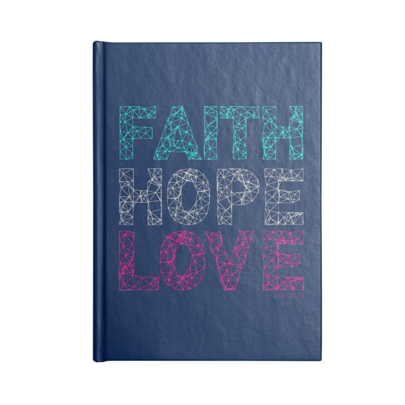 Faith Hope Love Accessories Lined Journal Notebook by Stand Forgiven ✝ Bible-inspired designer brand