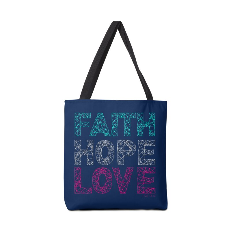 Faith Hope Love Accessories Tote Bag Bag by Stand Forgiven ✝ Bible-inspired designer brand