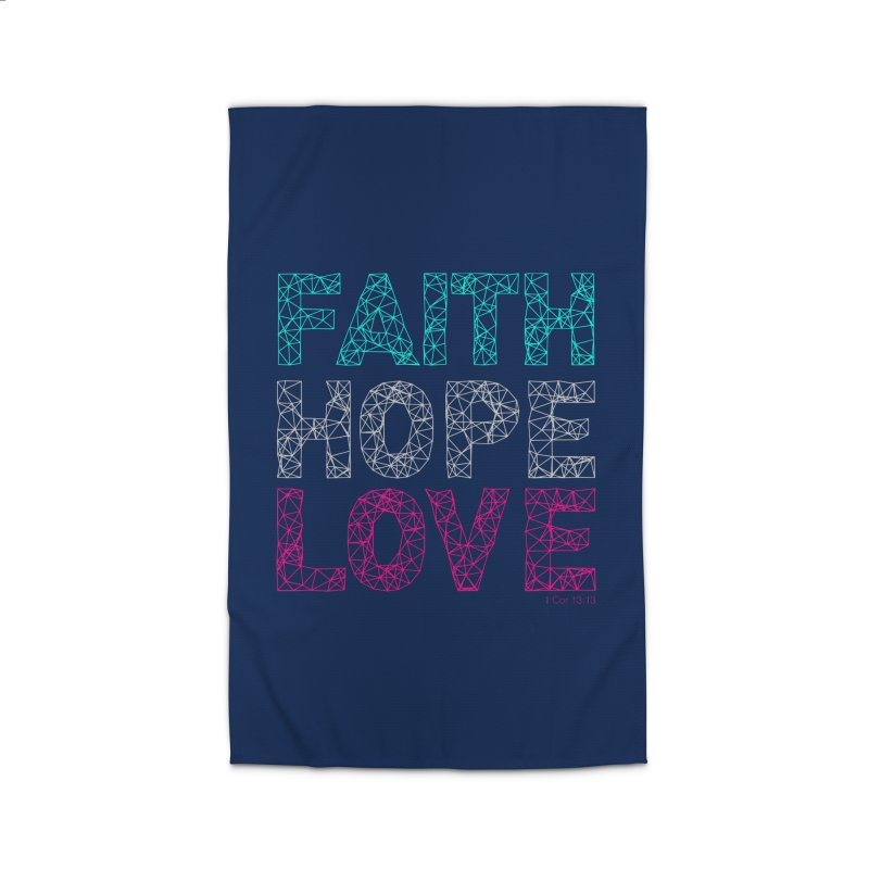 Faith Hope Love Home Rug by Stand Forgiven ✝ Bible-inspired designer brand