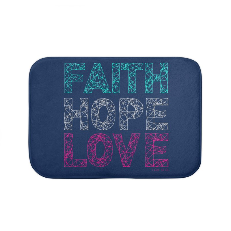 Faith Hope Love Home Bath Mat by Stand Forgiven ✝ Bible-inspired designer brand