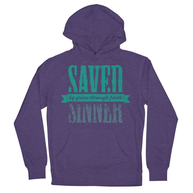 Sinner Saved Women's French Terry Pullover Hoody by Stand Forgiven ✝ Bible-inspired designer brand