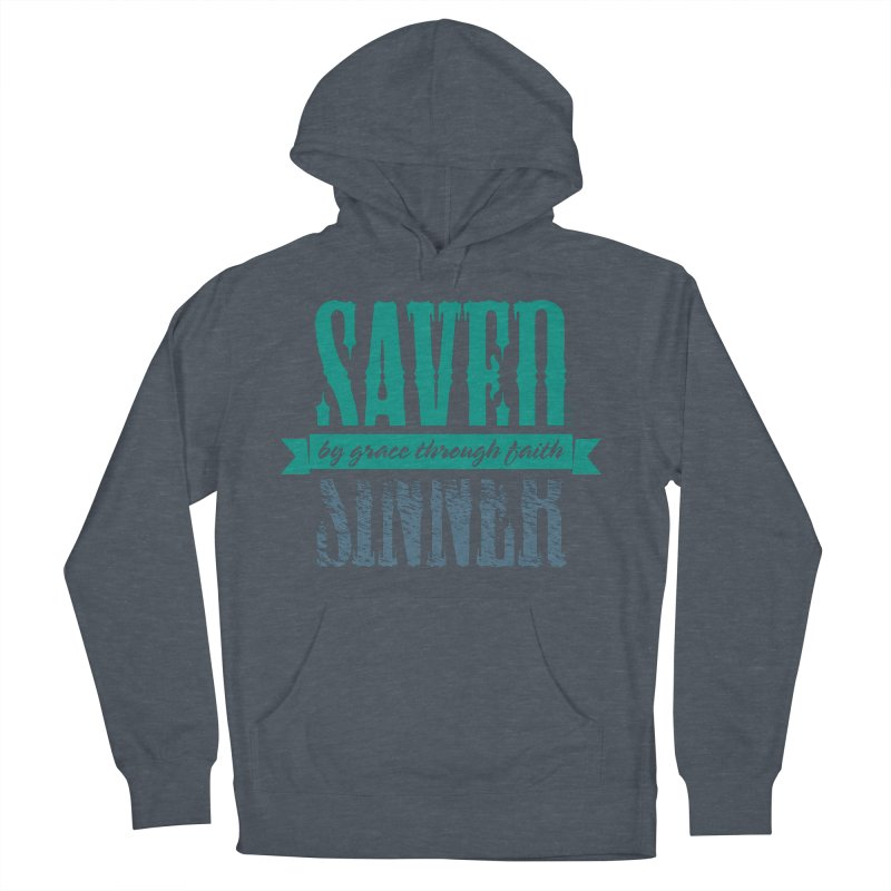 Sinner Saved Men's French Terry Pullover Hoody by Stand Forgiven ✝ Bible-inspired designer brand