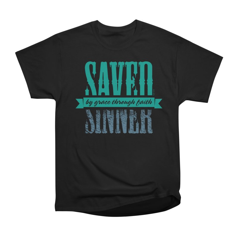 Sinner Saved Men's Classic T-Shirt by Stand Forgiven ✝ Bible-inspired designer brand