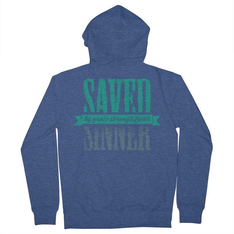 Sinner Saved Women's Zip-Up Hoody by Stand Forgiven ✝ Bible-inspired designer brand