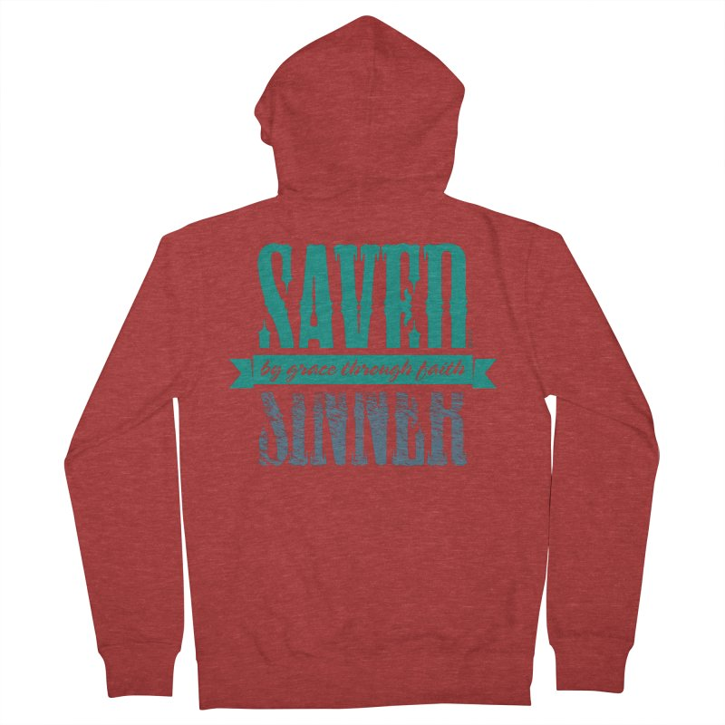 Sinner Saved Women's French Terry Zip-Up Hoody by Stand Forgiven ✝ Bible-inspired designer brand