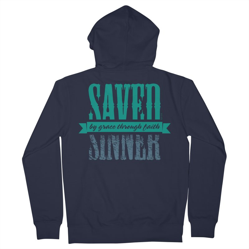 Sinner Saved Men's Zip-Up Hoody by Stand Forgiven ✝ Bible-inspired designer brand