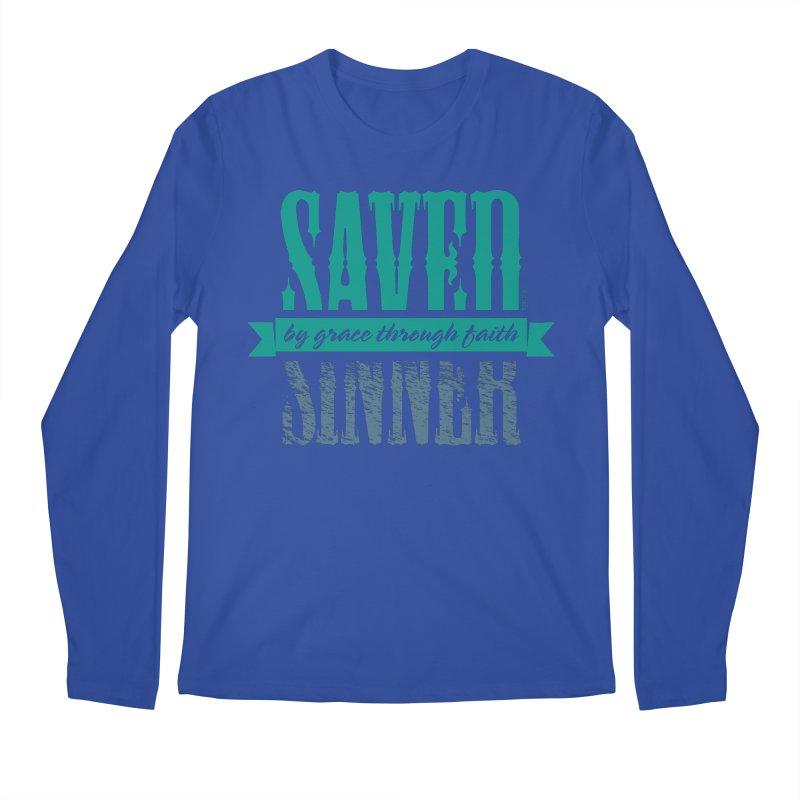 Sinner Saved Men's Longsleeve T-Shirt by Stand Forgiven ✝ Bible-inspired designer brand