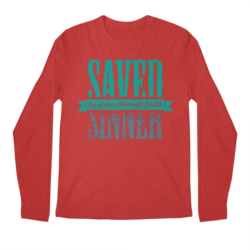 Sinner Saved Men's Longsleeve T-Shirt by Stand Forgiven ✝ Bible-inspired designer brand
