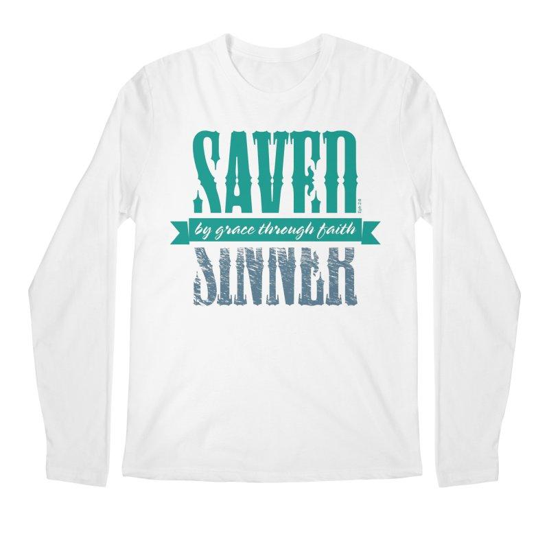Sinner Saved Men's Regular Longsleeve T-Shirt by Stand Forgiven ✝ Bible-inspired designer brand