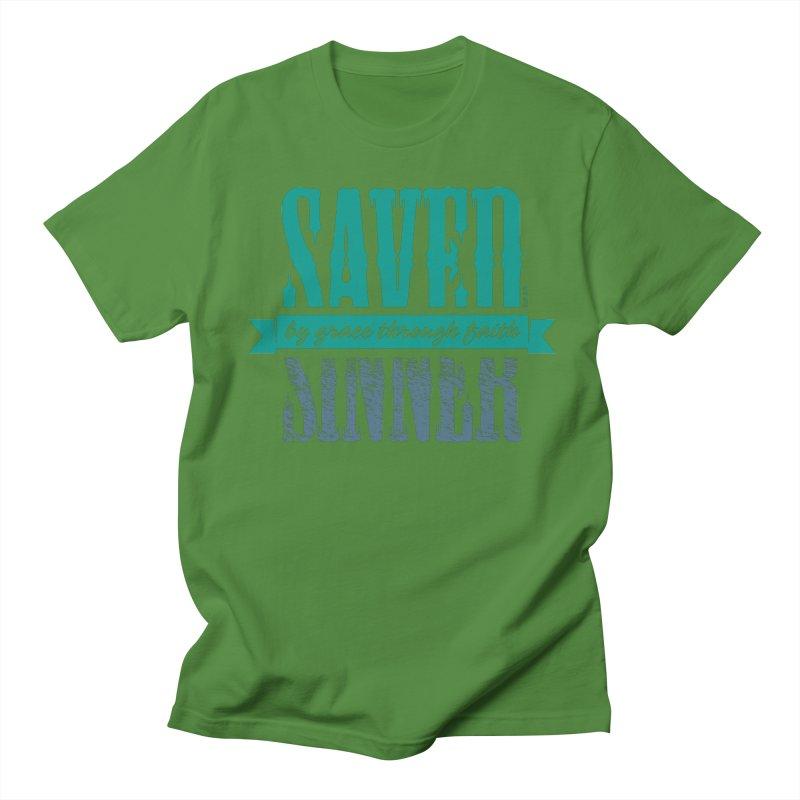 Sinner Saved Men's Regular T-Shirt by Stand Forgiven ✝ Bible-inspired designer brand