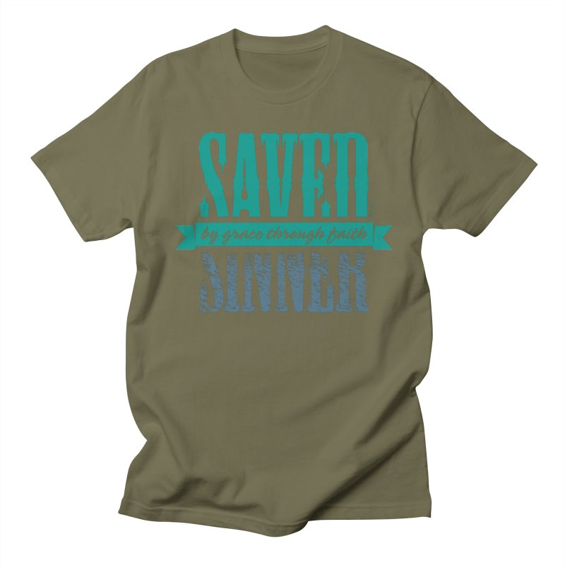 Sinner Saved Men's Regular T-Shirt by Stand Forgiven ✝ Bible-inspired designer brand