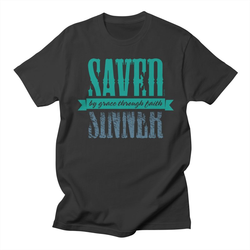 Sinner Saved Women's Unisex T-Shirt by Stand Forgiven ✝ Bible-inspired designer brand