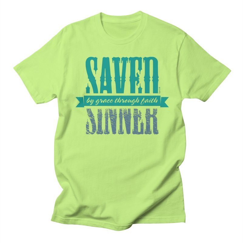 Sinner Saved Women's Regular Unisex T-Shirt by Stand Forgiven ✝ Bible-inspired designer brand
