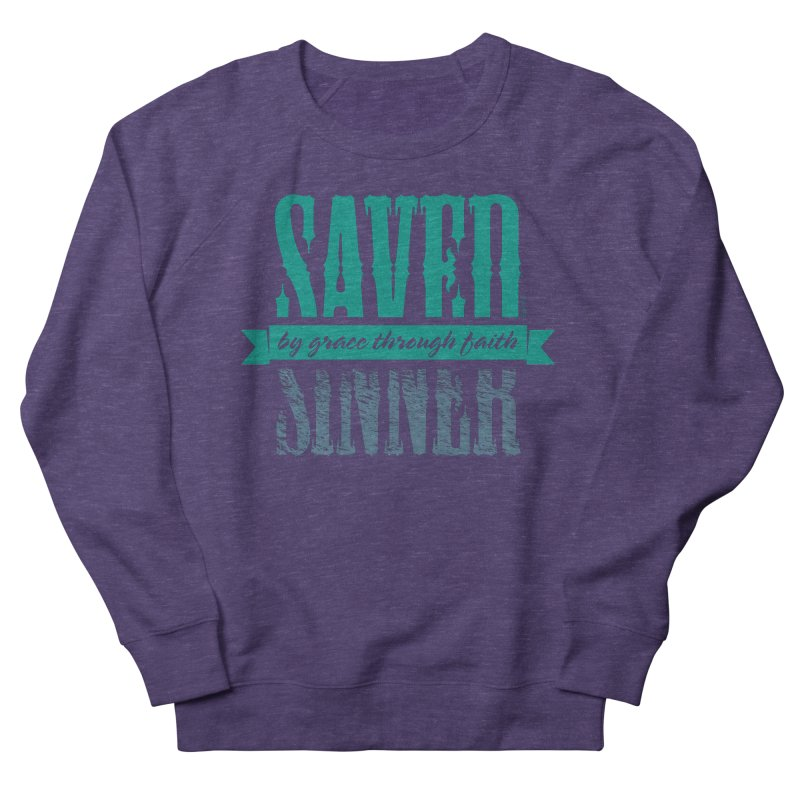 Sinner Saved Women's Sweatshirt by Stand Forgiven ✝ Bible-inspired designer brand