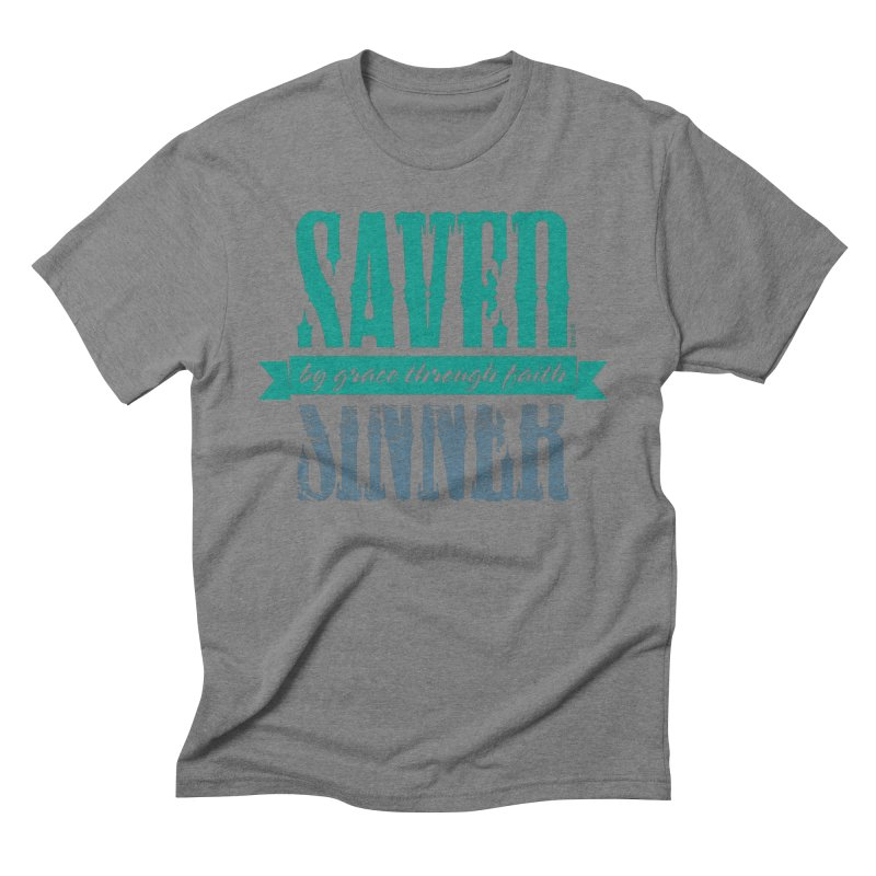 Sinner Saved Men's Triblend T-Shirt by Stand Forgiven ✝ Bible-inspired designer brand