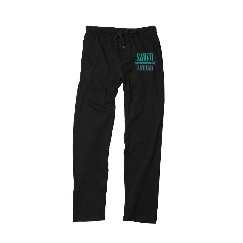 Sinner Saved Men's Lounge Pants by Stand Forgiven ✝ Bible-inspired designer brand