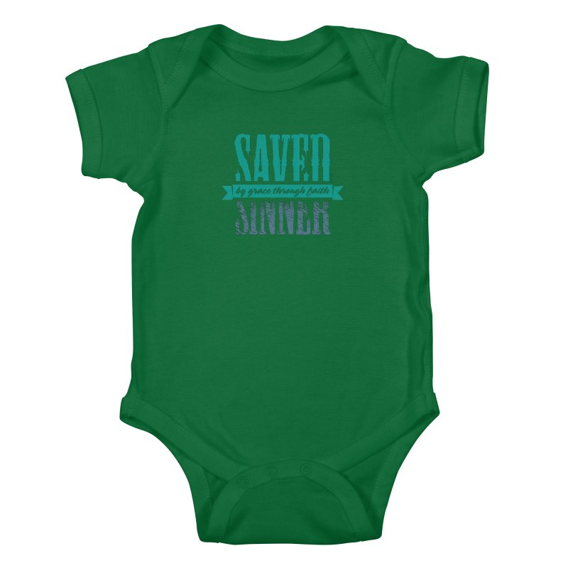 Sinner Saved Kids Baby Bodysuit by Stand Forgiven ✝ Bible-inspired designer brand
