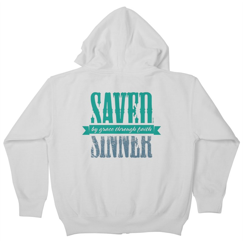 Sinner Saved Kids Zip-Up Hoody by Stand Forgiven ✝ Bible-inspired designer brand