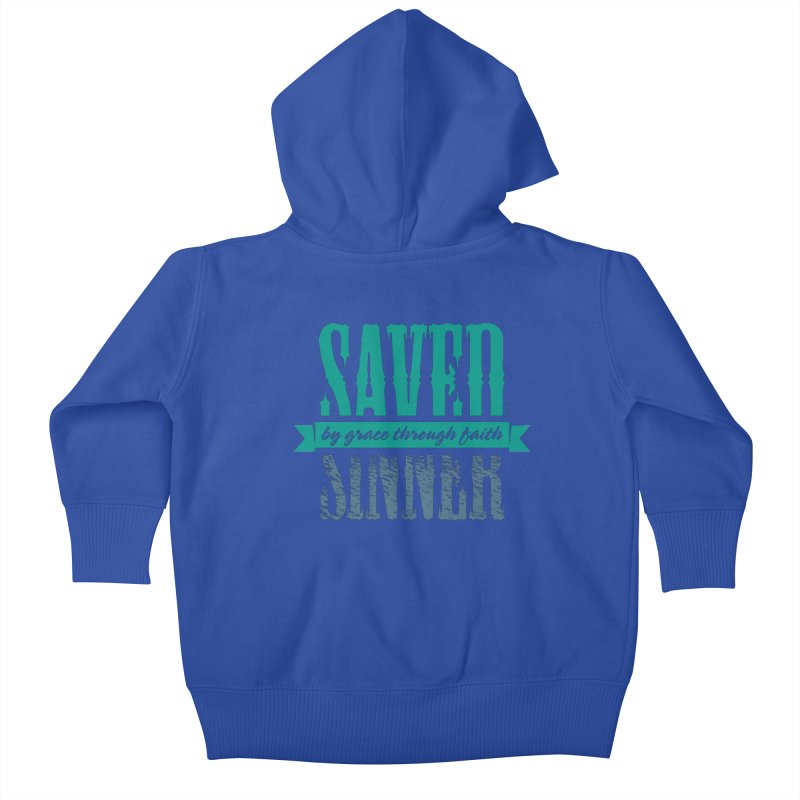 Sinner Saved Kids Baby Zip-Up Hoody by Stand Forgiven ✝ Bible-inspired designer brand