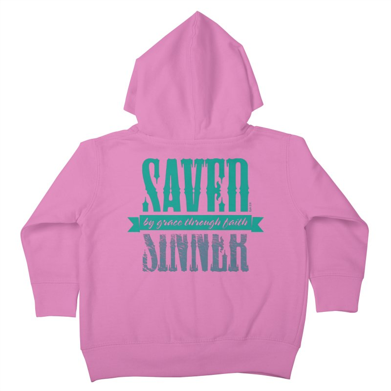 Sinner Saved Kids Toddler Zip-Up Hoody by Stand Forgiven ✝ Bible-inspired designer brand