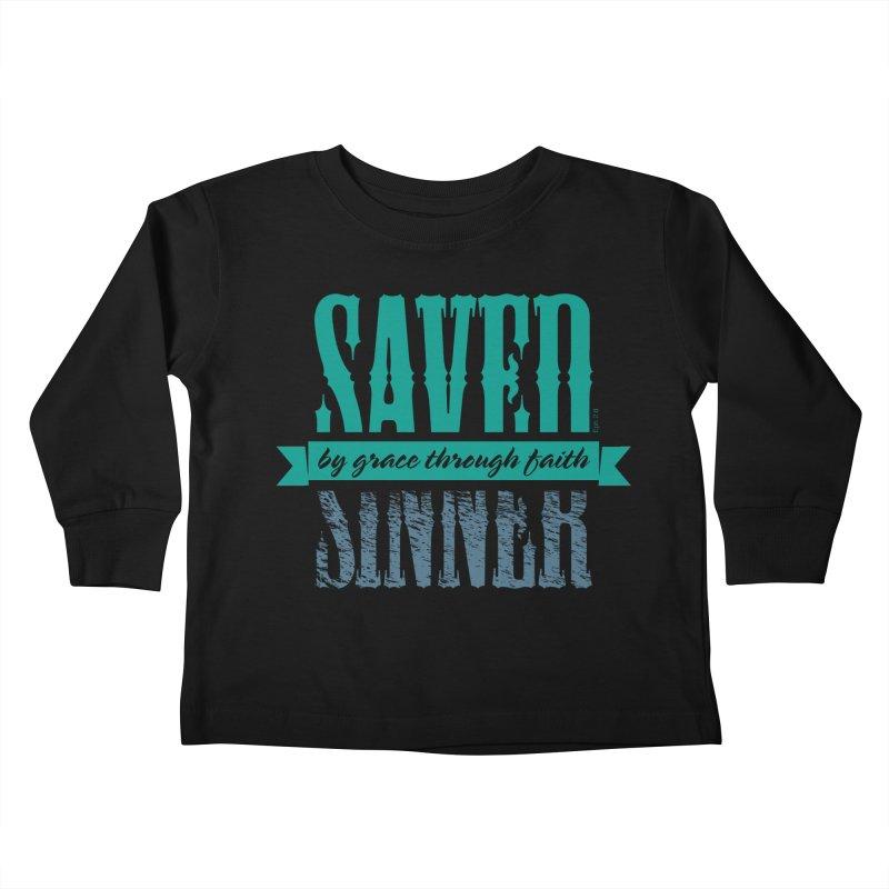 Sinner Saved Kids Toddler Longsleeve T-Shirt by Stand Forgiven ✝ Bible-inspired designer brand