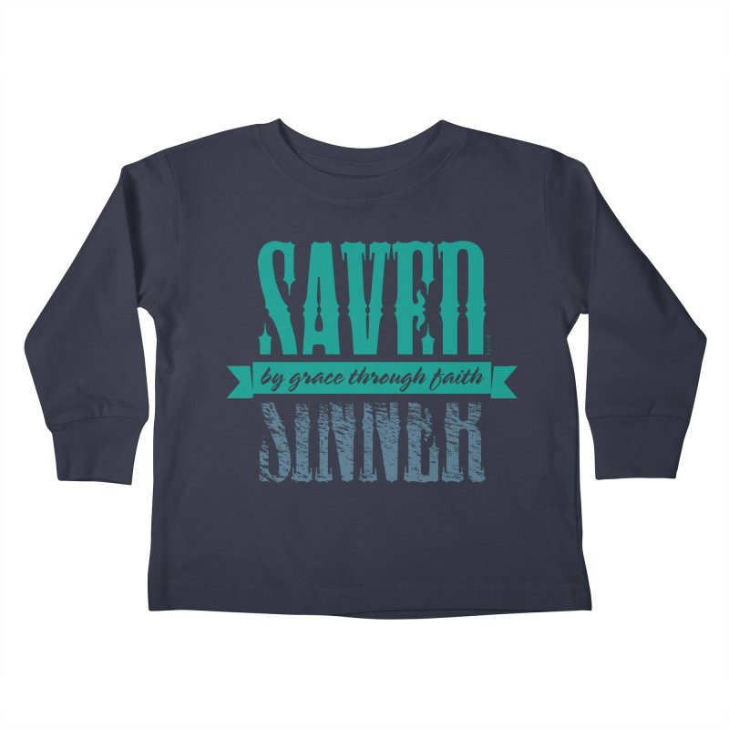 Sinner Saved Kids Toddler Longsleeve T-Shirt by Stand Forgiven ✝ Bible-inspired designer brand