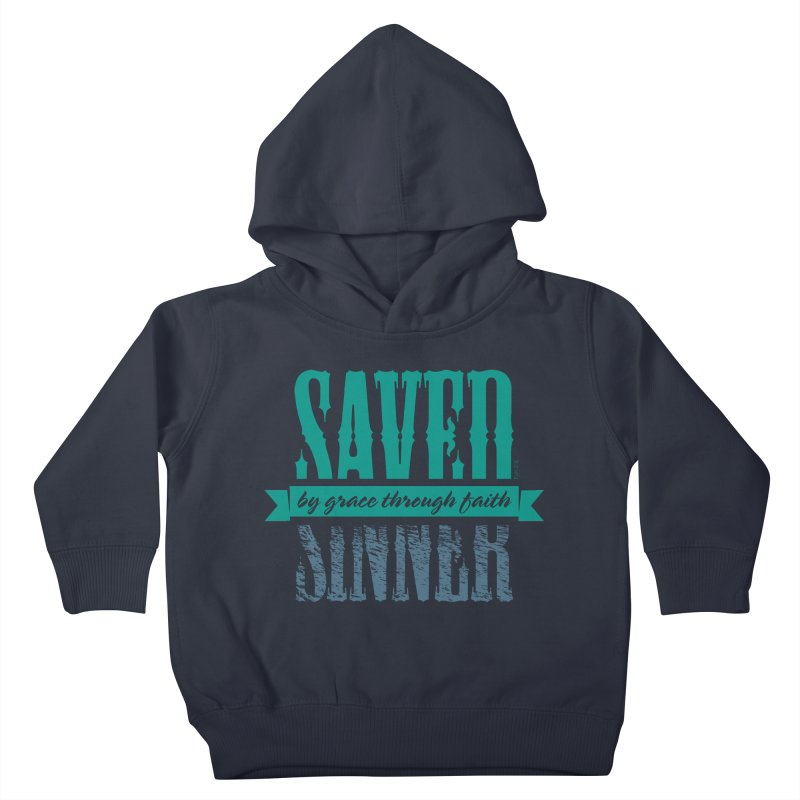 Sinner Saved Kids Toddler Pullover Hoody by Stand Forgiven ✝ Bible-inspired designer brand