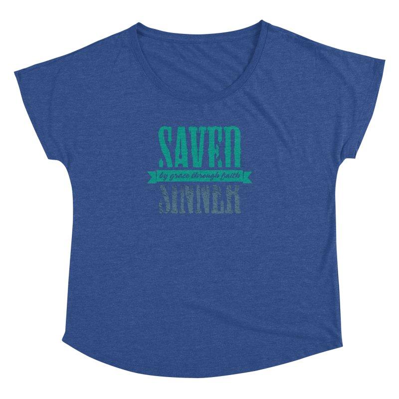 Sinner Saved Women's Dolman Scoop Neck by Stand Forgiven ✝ Bible-inspired designer brand