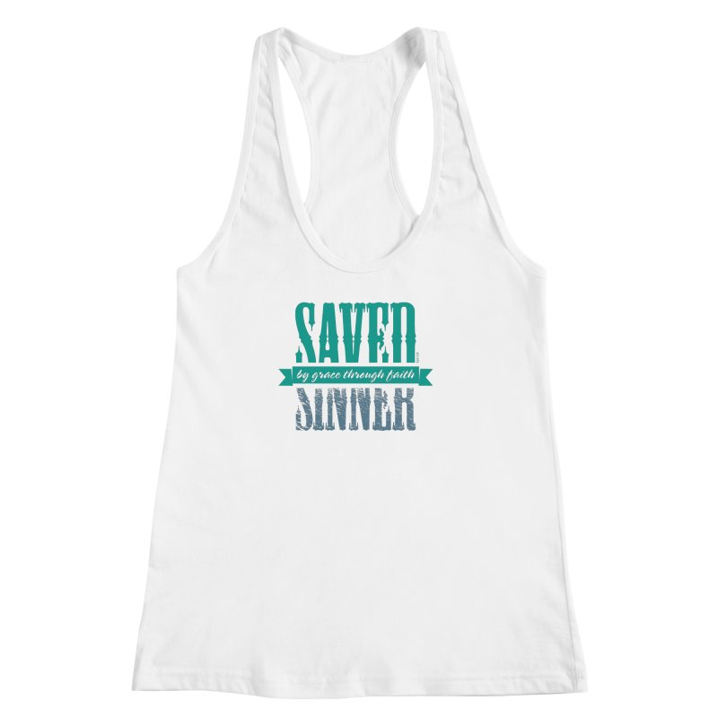 Sinner Saved Women's Racerback Tank by Stand Forgiven ✝ Bible-inspired designer brand