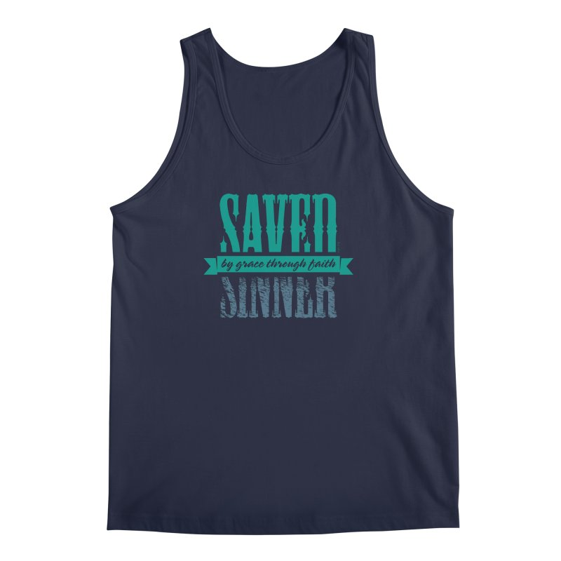 Sinner Saved Men's Regular Tank by Stand Forgiven ✝ Bible-inspired designer brand