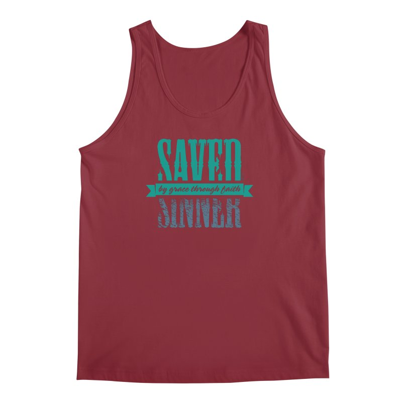 Sinner Saved Men's Tank by Stand Forgiven ✝ Bible-inspired designer brand