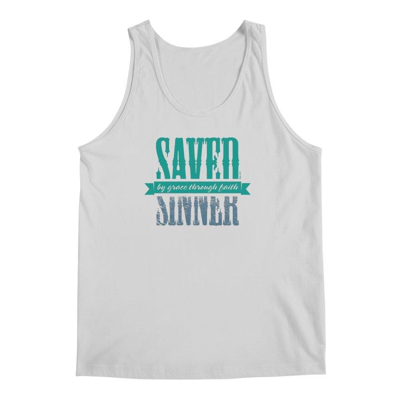 Sinner Saved Men's Regular Tank by Stand Forgiven ✝ Bible-inspired designer brand