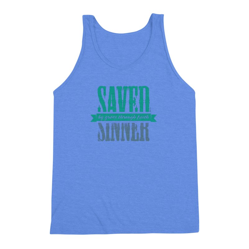 Sinner Saved Men's Triblend Tank by Stand Forgiven ✝ Bible-inspired designer brand