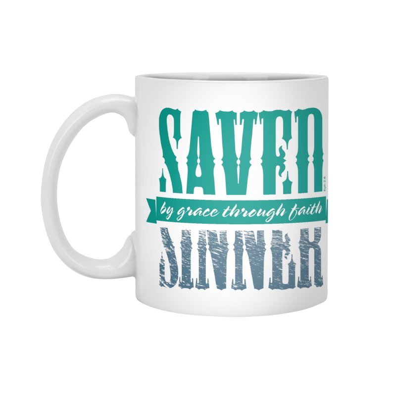 Sinner Saved Accessories Standard Mug by Stand Forgiven ✝ Bible-inspired designer brand