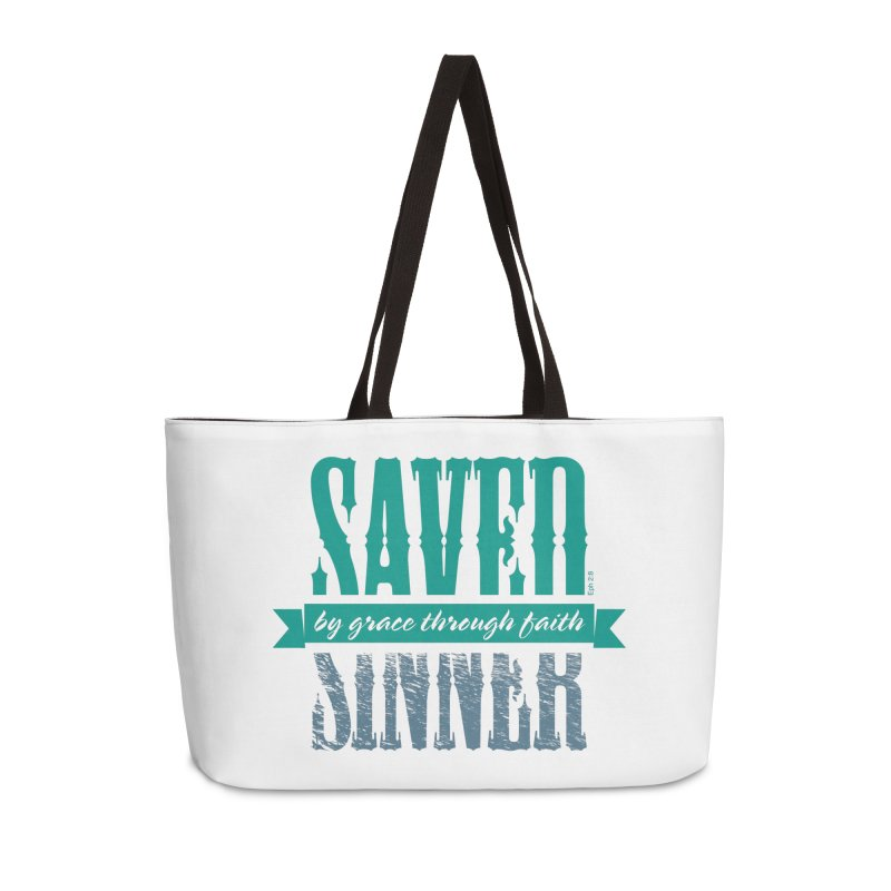 Sinner Saved Accessories Weekender Bag Bag by Stand Forgiven ✝ Bible-inspired designer brand