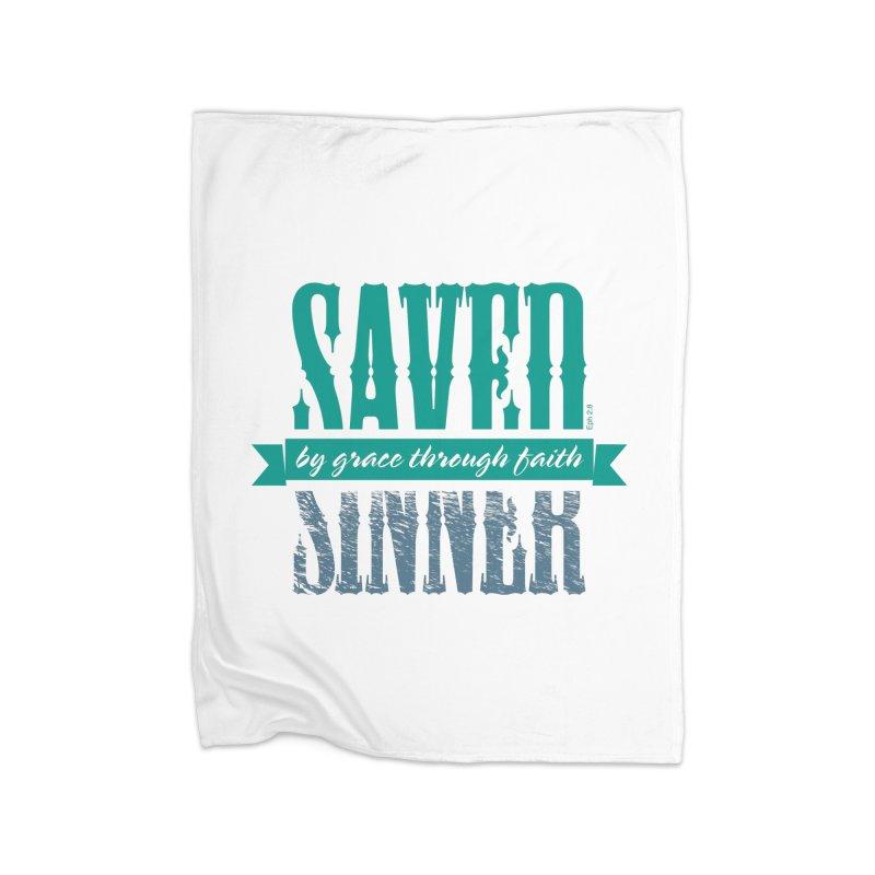 Sinner Saved Home Fleece Blanket Blanket by Stand Forgiven ✝ Bible-inspired designer brand