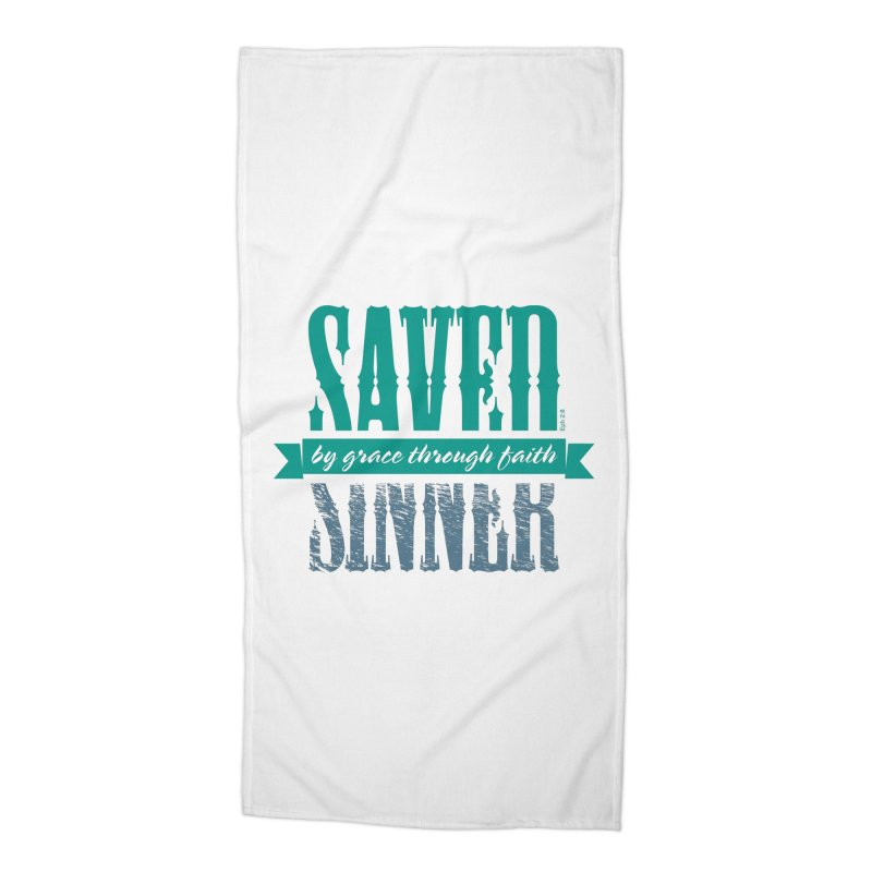 Sinner Saved Accessories Beach Towel by Stand Forgiven ✝ Bible-inspired designer brand