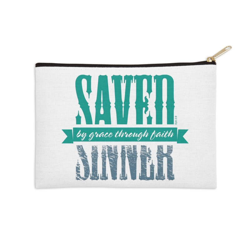 Sinner Saved Accessories Zip Pouch by Stand Forgiven ✝ Bible-inspired designer brand