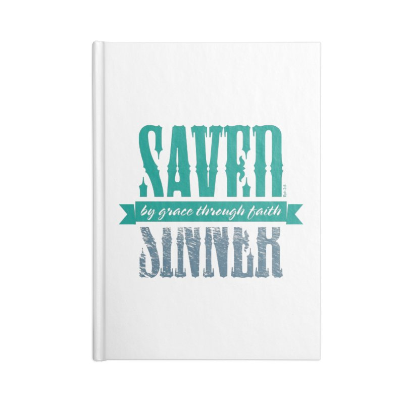 Sinner Saved Accessories Lined Journal Notebook by Stand Forgiven ✝ Bible-inspired designer brand