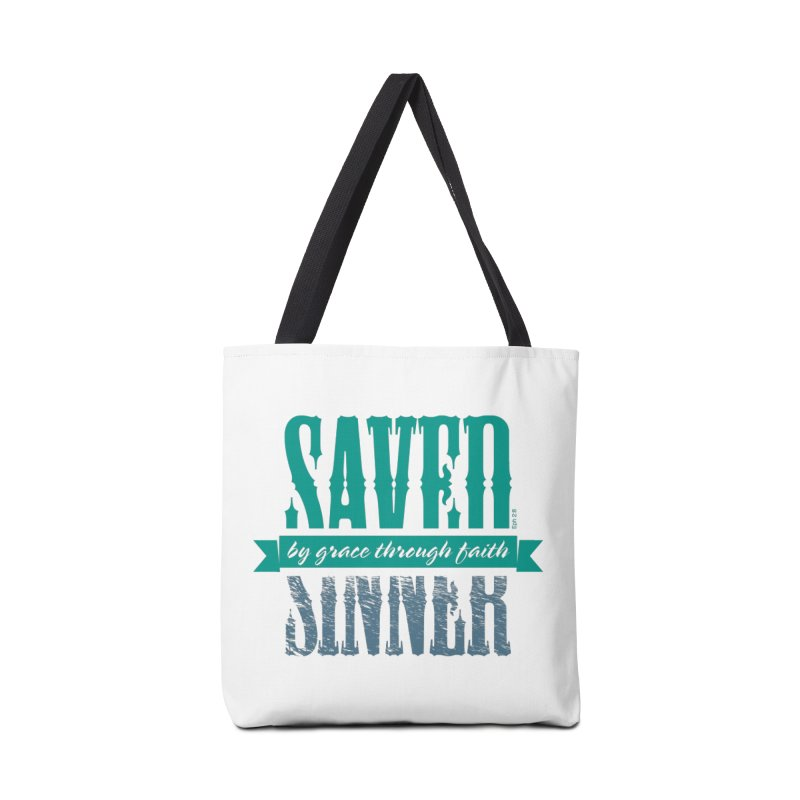 Sinner Saved Accessories Tote Bag Bag by Stand Forgiven ✝ Bible-inspired designer brand