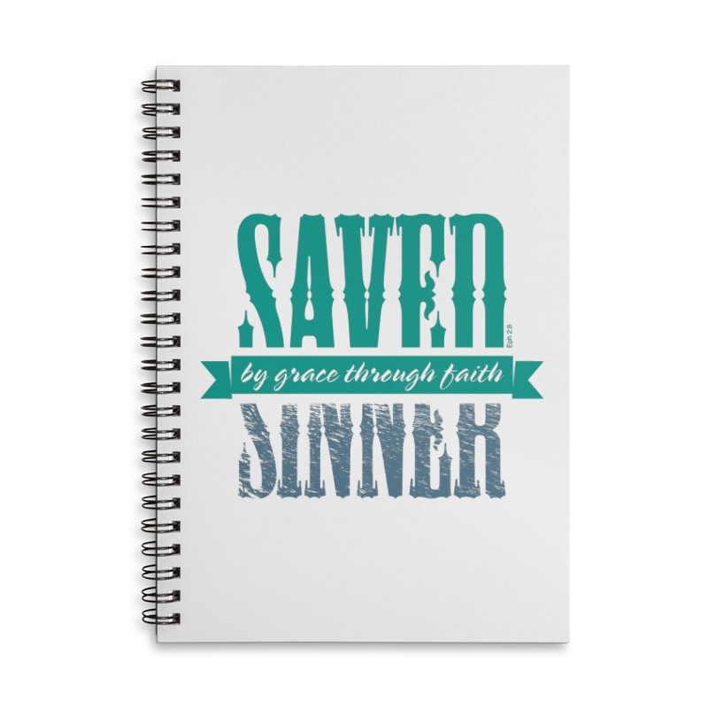 Sinner Saved Accessories Lined Spiral Notebook by Stand Forgiven ✝ Bible-inspired designer brand