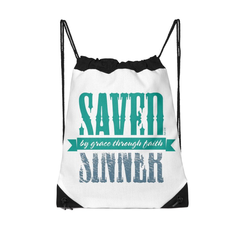 Sinner Saved Accessories Drawstring Bag Bag by Stand Forgiven ✝ Bible-inspired designer brand