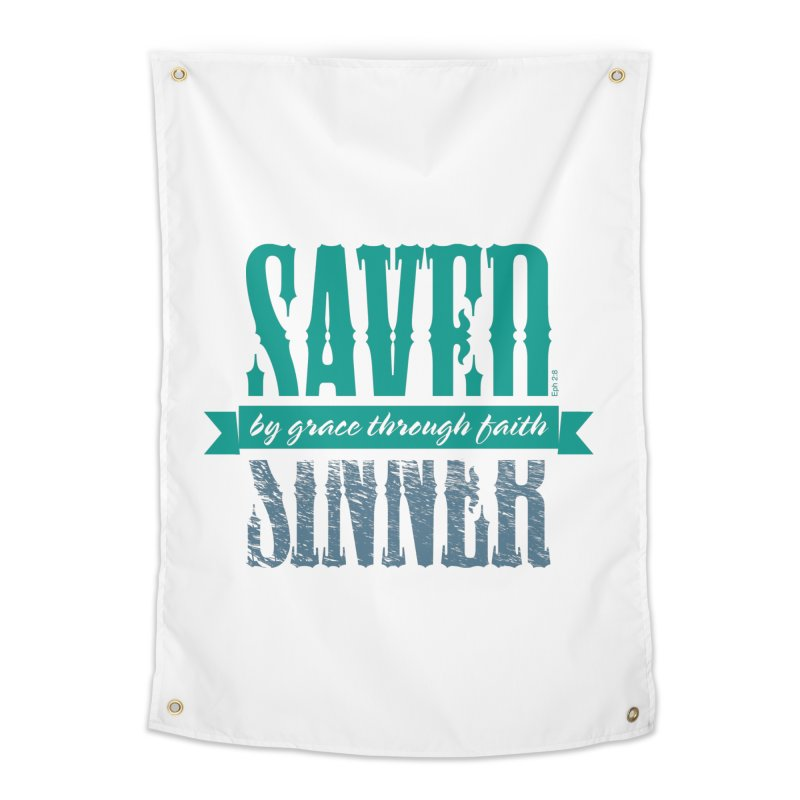 Sinner Saved Home Tapestry by Stand Forgiven ✝ Bible-inspired designer brand