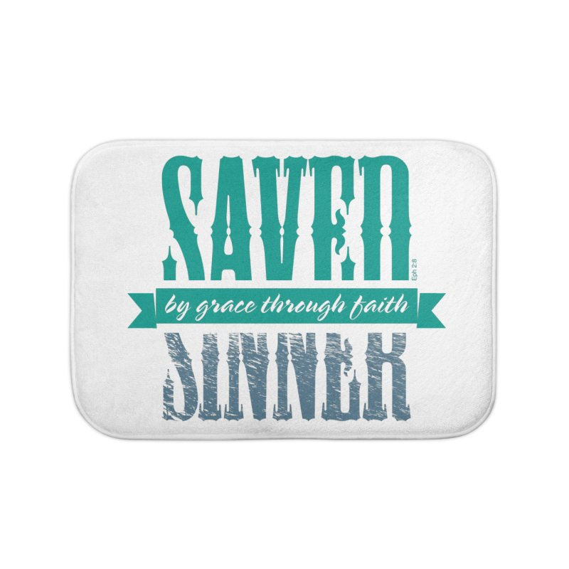 Sinner Saved Home Bath Mat by Stand Forgiven ✝ Bible-inspired designer brand