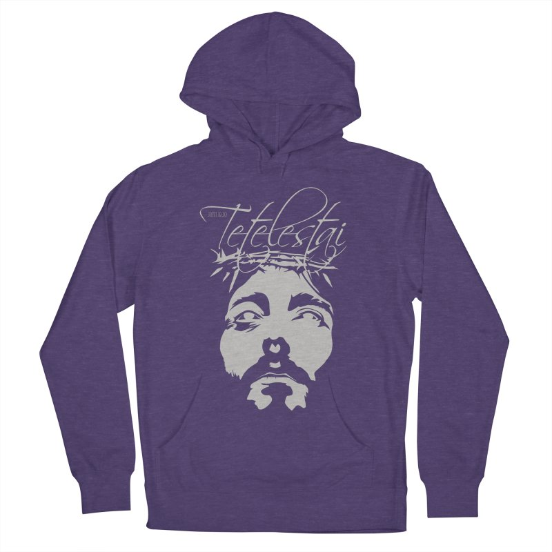 Tetelestai Women's French Terry Pullover Hoody by Stand Forgiven ✝ Bible-inspired designer brand