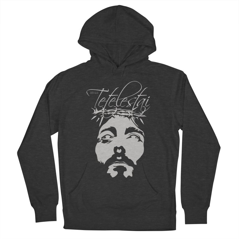 Tetelestai Men's French Terry Pullover Hoody by Stand Forgiven ✝ Bible-inspired designer brand