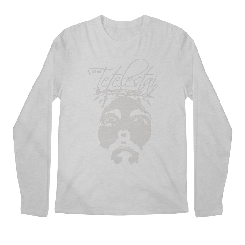 Tetelestai Men's Longsleeve T-Shirt by Stand Forgiven ✝ Bible-inspired designer brand